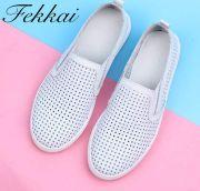 Fekkai品牌女鞋小白鞋平底休闲鞋招商代理加盟